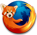 Revised Firefox Logo showing the Red Panda head